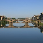 Reflections in the Arno River in Florence