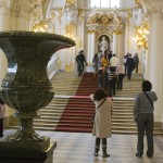This grand staircase greets you shortly after entering the Hermitage museum.