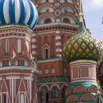 The famous, onion-domed towers of St. Basil's Cathedral
