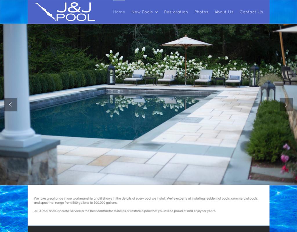 River design jj pool web site for Pool design website