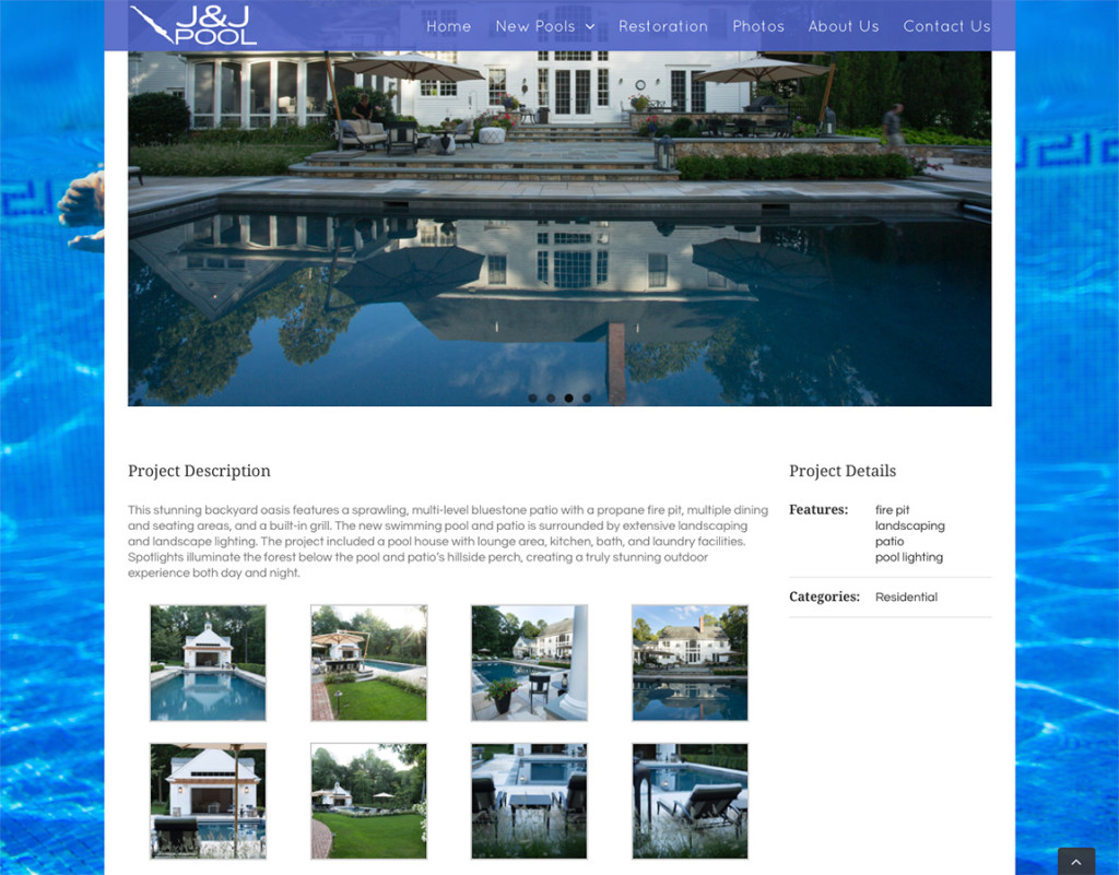 River design jj pool web site for Pool design website